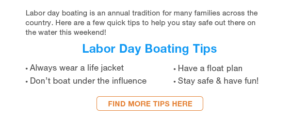 Valuable Boating Tips for Labor Day Weekend